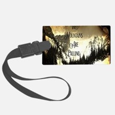 vintage mountains are calling Luggage Tag