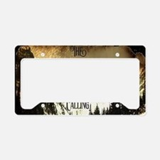 vintage mountains are calling License Plate Holder