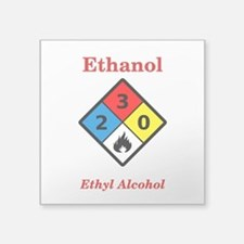 Ethanol MSDS Label Sticker