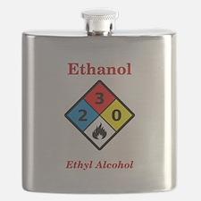 Ethanol MSDS Label Flask