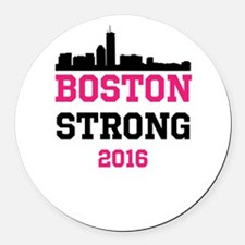 Boston Strong 2016 Round Car Magnet