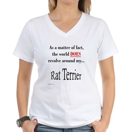 Rat Terrier World Women's V-Neck T-Shirt