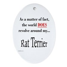 Rat Terrier World Oval Ornament