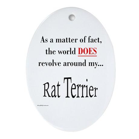Rat Terrier World Oval Ornament