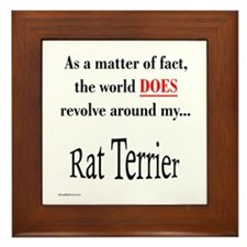 Rat Terrier World Framed Tile