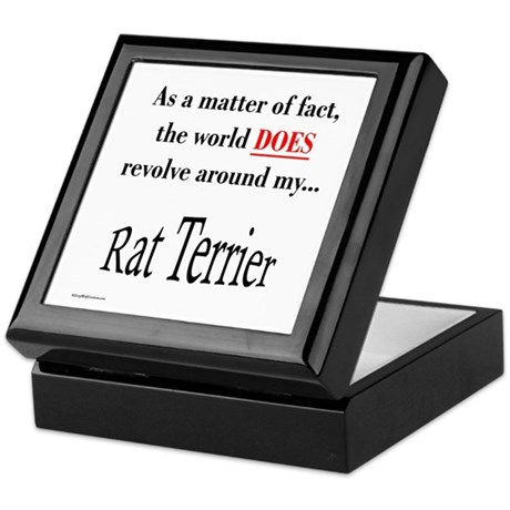 Rat Terrier World Keepsake Box