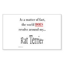Rat Terrier World Rectangle Decal