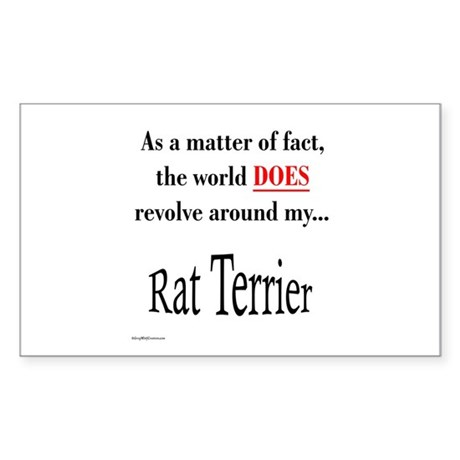 Rat Terrier World Rectangle Sticker
