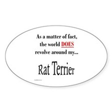 Rat Terrier World Oval Decal