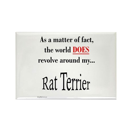Rat Terrier World Rectangle Magnet