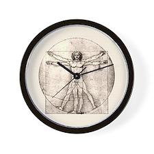"""Da Vinci """"Vitruvian Man"""" Wall Clock"""