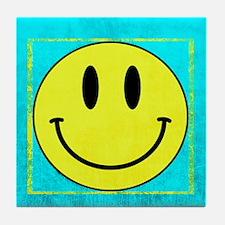 Unique Yellow smiley Tile Coaster