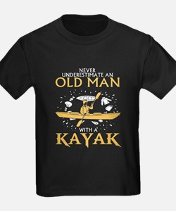 Never Underestimate An Old Man With A Kaya T-Shirt