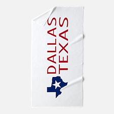 Texas: Dallas (State Shape & Star) Beach Towel