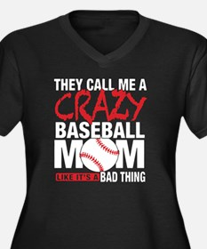 Funny Baseball mom Women's Plus Size V-Neck Dark T-Shirt