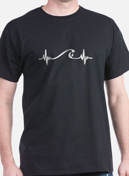Surfing Heartbeat T-Shirt