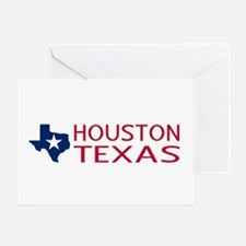 Texas: Houston (State Shape & Star) Greeting Card
