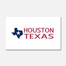 Texas: Houston (State Shape & S Car Magnet 20 x 12