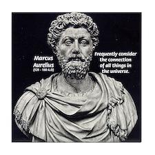 Marcus Aurelius Stoicism Tile Coaster
