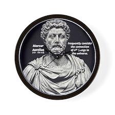 Marcus Aurelius Stoicism Wall Clock