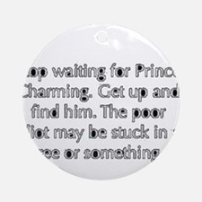 Cute Prince charming Round Ornament
