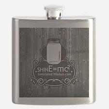 Inebriated Wisdom Moonshine logo Flask