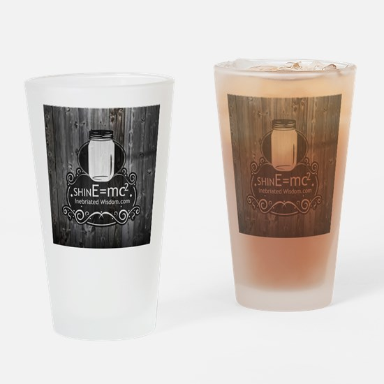 Inebriated Wisdom Moonshine logo Drinking Glass