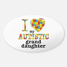 Autistic Granddaughter Sticker (Oval)