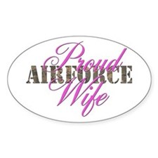 Proud Air Force Wife ABU Oval Decal