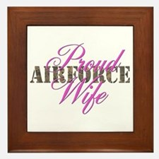 Proud Air Force Wife ABU Framed Tile