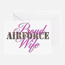 Proud Air Force Wife ABU Greeting Card