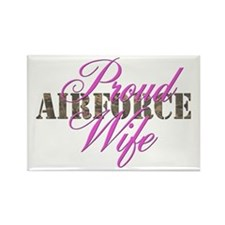 Proud Air Force Wife ABU Rectangle Magnet