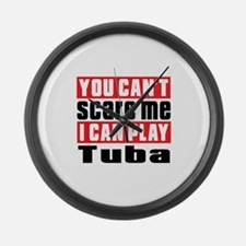 I Can Play Tuba Large Wall Clock