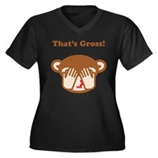 That's Gross! Women's Plus Size V-Neck Dark T-Shir