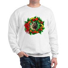 Norwegian Elkhound Christmas Sweatshirt