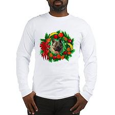 Norwegian Elkhound Christmas Long Sleeve T-Shirt