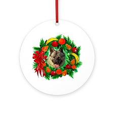 Norwegian Elkhound Christmas Ornament (Round)