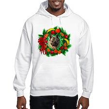 Norwegian Elkhound Christmas Hoodie