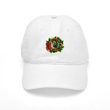 Norwegian Elkhound Christmas Baseball Cap