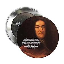 Gottfried Leibniz Metaphysics Button