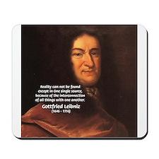 Gottfried Leibniz Metaphysics Mousepad