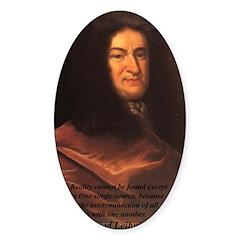 Gottfried Leibniz Metaphysics Oval Decal