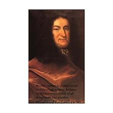 Gottfried Leibniz Metaphysics Sticker (Rectangular