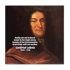 Gottfried Leibniz Metaphysics Tile Coaster