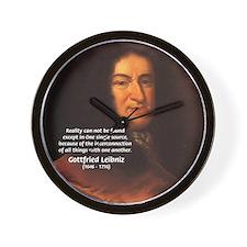 Gottfried Leibniz Metaphysics Wall Clock