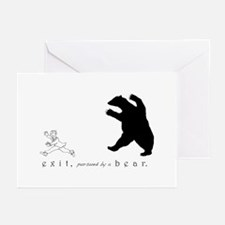 Exit, Pursued By A Bear - Greeting Cards
