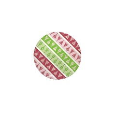 Striped Funky Christmas Mini Button