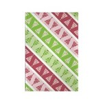 Striped Funky Christmas Rectangle Magnet (100 pack