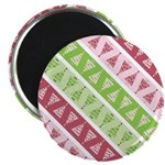 """Striped Funky Christmas 2.25"""" Magnet (10 pack)"""