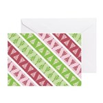 Striped Funky Christmas Greeting Card